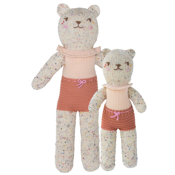 Blabla Knit Doll, Tweedy Bear Grenadine - Regular Size - oh baby!