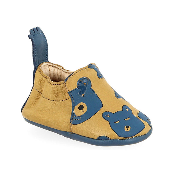 easy peasy Blumoo Ourson Infant Soft Sole Shoes - Oxi/ Denim - oh baby!