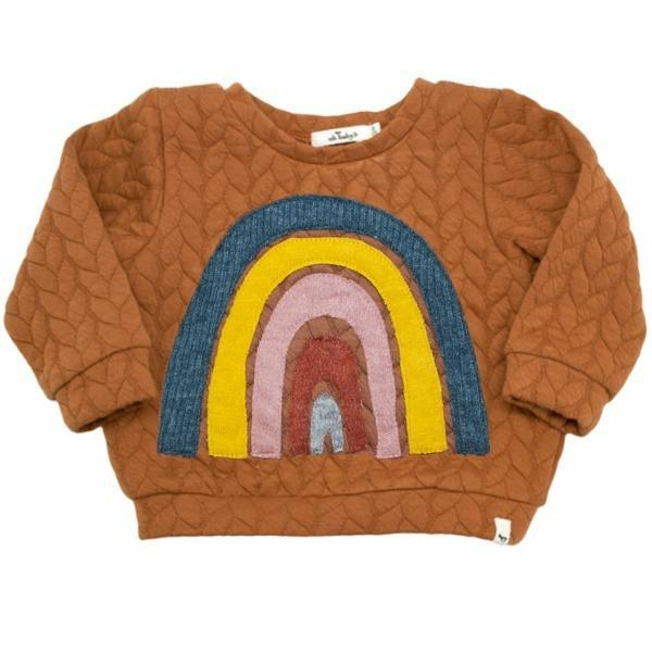 oh baby! Brooklyn Boxy Quilted Cable, Rainbow, Rust