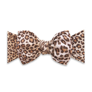 Printed Knot Bow Headband - Safari
