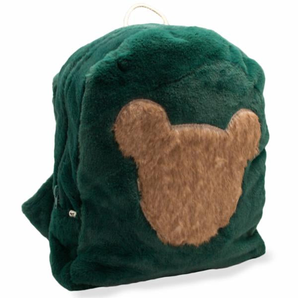 oh baby! Children's Fur Backpack with Mink Bear - Forest