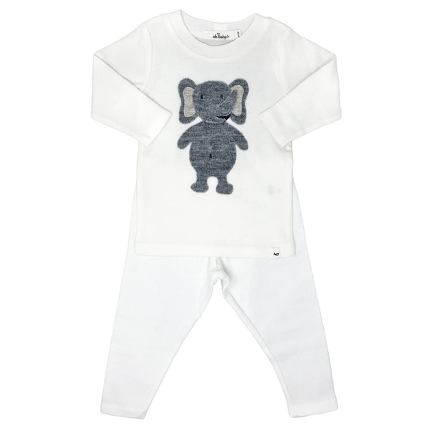 oh baby! Two Piece Set - Ragdoll Elephant - Cream
