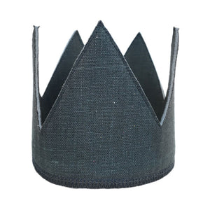 oh baby! Elephant Gray Linen Crown - Infant