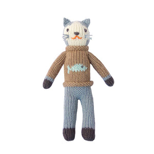 Blabla Knit Doll, Sardine the Cat - Rattle - oh baby!