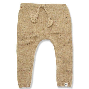 oh baby! Flat Knit Dappled Jogger, Oat