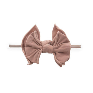 Fab-Bow-Lous-Bow Skinny Headband - Blush/Putty