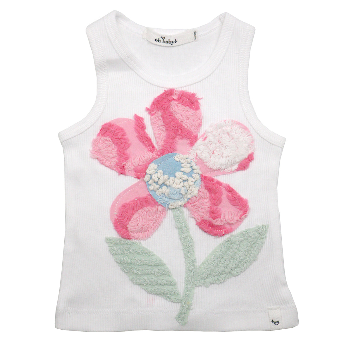 8568a800d oh baby! Anniversary Vintage Flower Tank Top - Size 0-3 Months