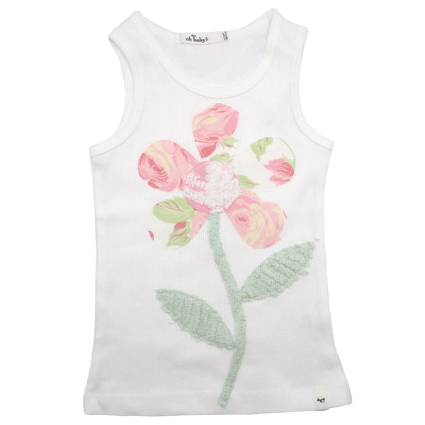 oh baby! Anniversary Vintage Flower Tank Top - Size 12-18 Months - oh baby!