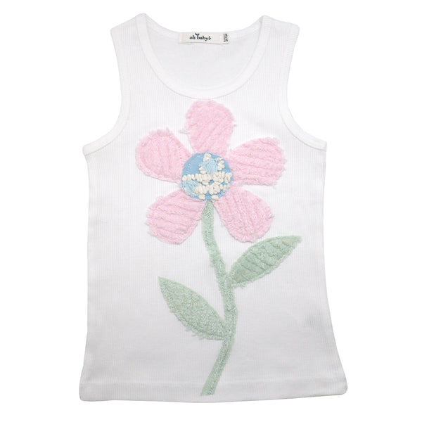 oh baby! Anniversary Vintage Flower Tank Top - Size 18-24 Months - oh baby!