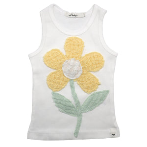 oh baby! Anniversary Vintage Flower Tank Top - Size 3-6 Months - oh baby!