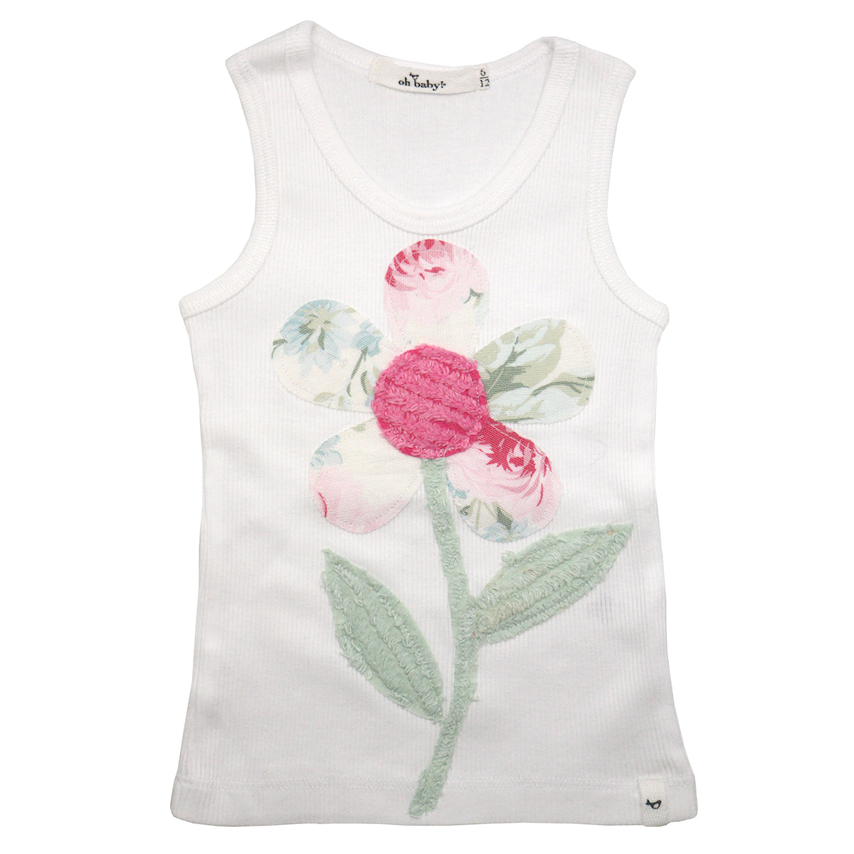 f207c39a6 oh baby! Anniversary Vintage Flower Tank Top - Size 6-12 Months