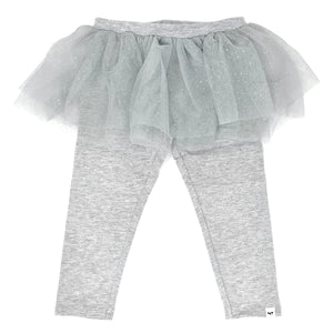 oh baby! Glinda Tushie Leggings - Silver/Silver - Heather Gray
