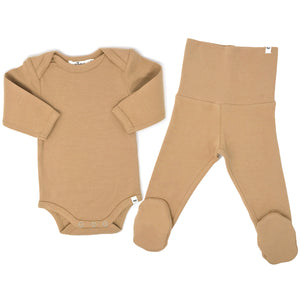 oh baby! 2pc Footie Set - Honey
