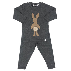 oh baby! Two Piece Set - Honey Bunny - Charcoal