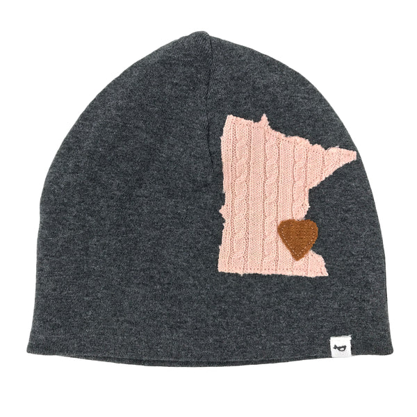 oh baby! Hat - Minnesota Love Pale Pink - Charcoal