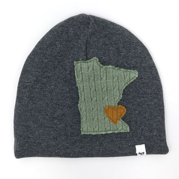 oh baby! Hat - Minnesota Love Sage - Charcoal