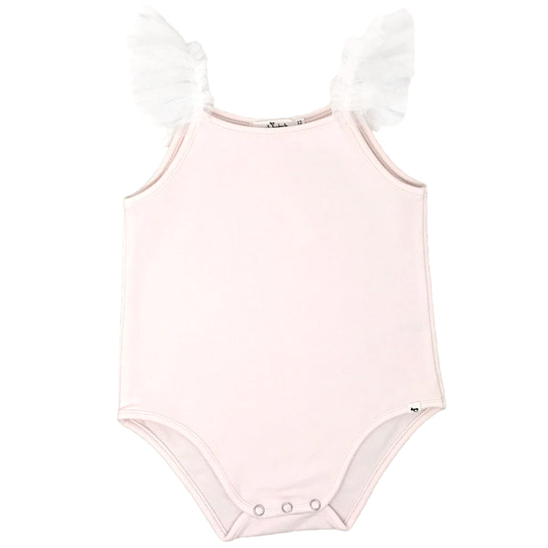 oh baby! Frill Ballet Leotard with Ivory Mesh Trim