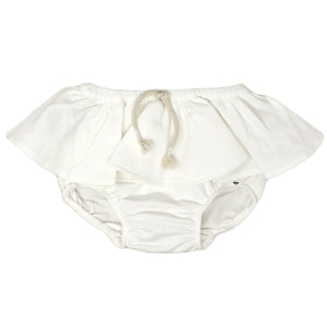 oh baby! Skirted Tushie Diaper Cover - Knit - Cream