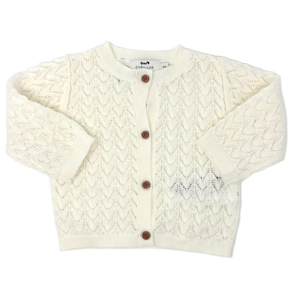 Cyrillus Paris Eline Knit Cardigan Sweater - Ecru