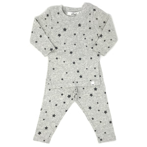 oh baby! Two Piece Set - Charcoal Stars - Oatmeal