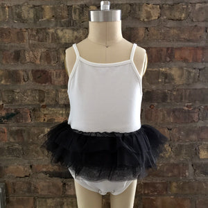 oh baby! Ballet Leotard with Black Mesh Skirt