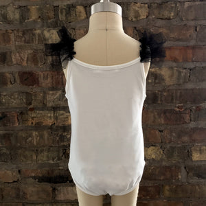 oh baby! Frill Ballet Leotard with Black Mesh Trim