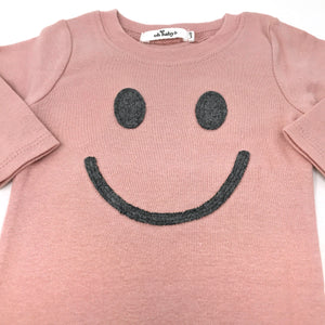 oh baby! Two Piece Set - Smiley Gray -Blush