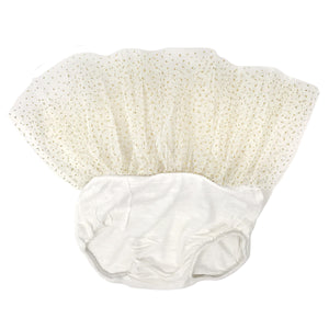 oh baby! Glinda Tushie Diaper Cover - Ivory/Gold - Cream