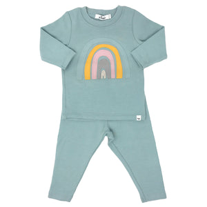 oh baby! Two Piece Set - Spring Rainbow - Misty Blue