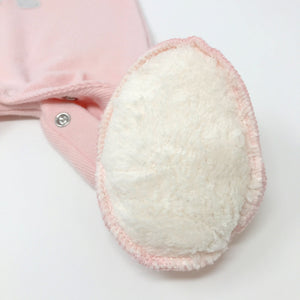 oh baby! Onesie Footie - Silver Ballerina Bunny - Brushed Pale Pink