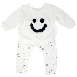 oh baby! Two Piece Set - Fur Smiley - Cream