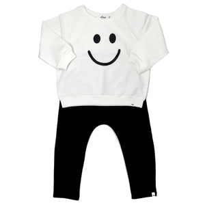 oh baby! Two Piece Set - Smiley - Black