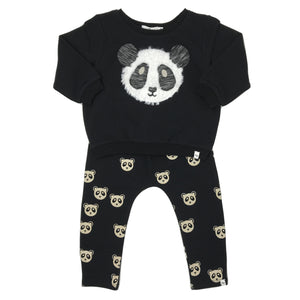 oh baby! Two Piece Set - Panda - Black