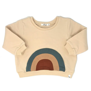 oh baby! Rainbow Brooklyn Boxy Sweatshirt - Natural