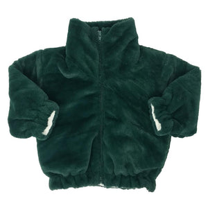 oh baby! Faux Fur Coat in Forest Green - Infant