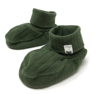 oh baby! Ribbed Winter Bootie - Moss