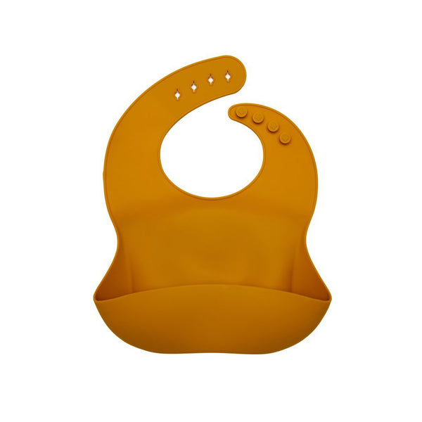 Loulou Lollipop Silicone Bib - Golden Glow