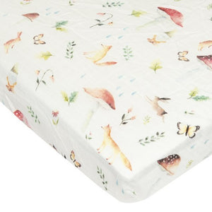 Loulou Lollipop - Fitted Crib Sheet - Woodland Gnome