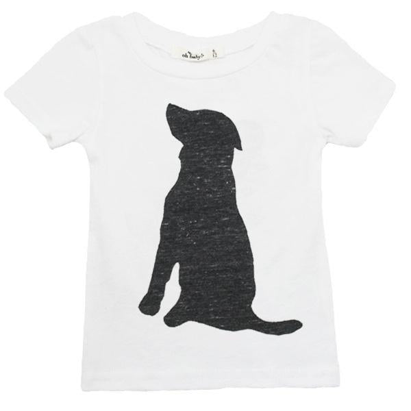 oh baby! Short Sleeve Lab Silhouette Pepper Tri-Blend Perfect Tee - Cream
