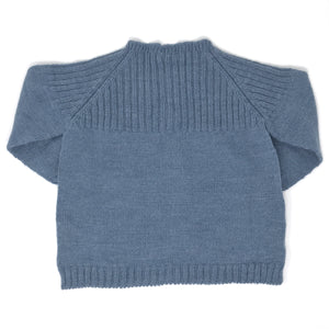 Baby Cardigan - English Blue