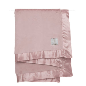 Little Giraffe Luxe Receiving Baby Blanket - Dusty Pink - oh baby!