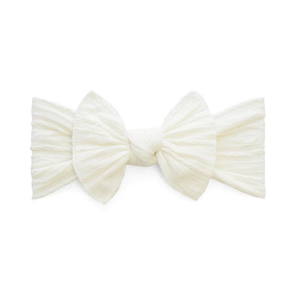 Cable Knit Knot Bow Headband - Ivory - oh baby!