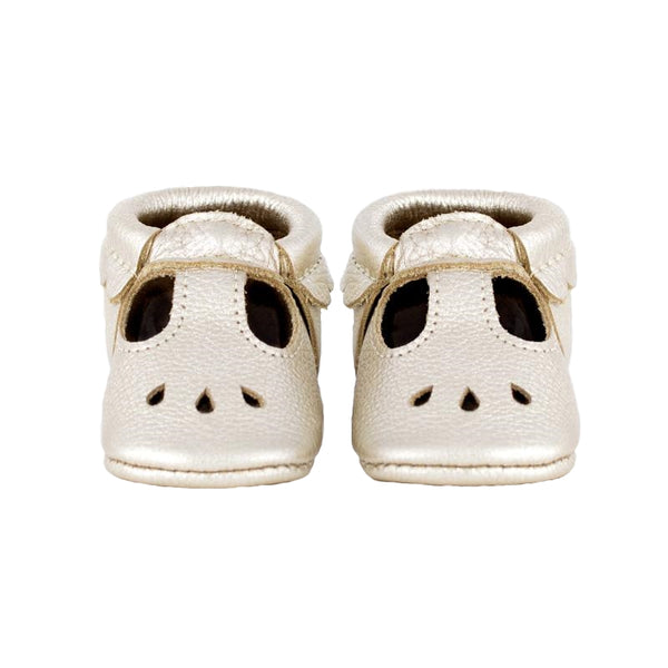 Freshly Picked Mary Jane Infant Baby Shoes - Platinum