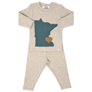 oh baby! Two Piece Set - Minnesota Love Sea - Sand