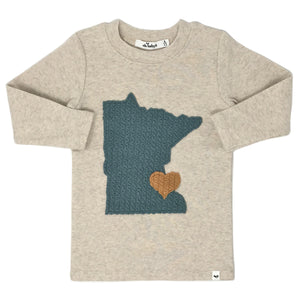 oh baby! Long Sleeve Top - Minnesota Love Turquoise - Sand