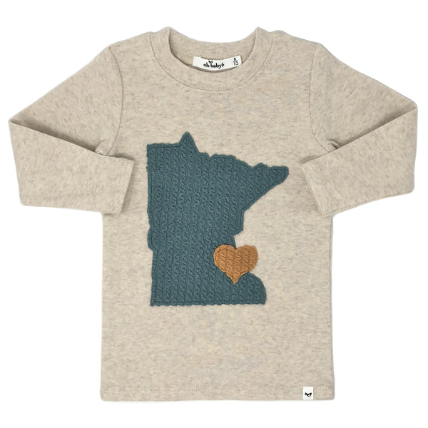 oh baby! Long Sleeve Top - Minnesota Love Sea - Sand