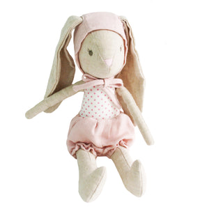 Alimrose Baby Girl Bunny in Bonnet Doll