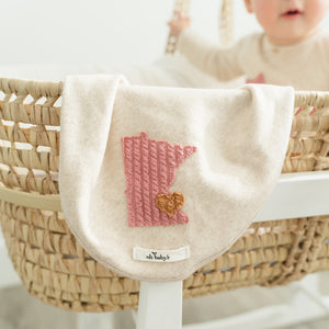 oh baby! Layette Blanket - Minnesota Love Blush - Sand