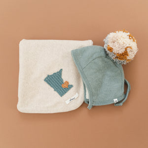 oh baby! Layette Blanket - Minnesota Love Sea - Sand