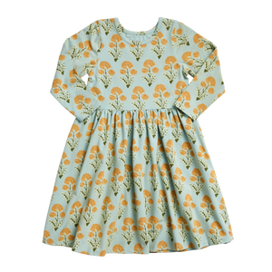 Pink Chicken Organic Steph Dress - Winter Sky Medallion Floral